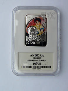 Andorra – 10 Diners 2008 'Pierre Auguste Renoir – two girls on the piano' – silver