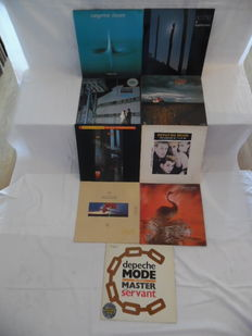Nice lot of Electronic & Synthi-Rock in 8 Albums & 1 Maxi - Tangerine Dream ( 2 ) & Depeche Mode ( 7 ) - 2 Records in Coloured Wax -
