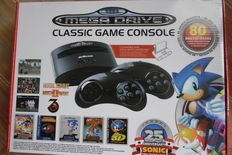 Sega Mega Drive Classic Game Console - complete in box with 80 built-in games