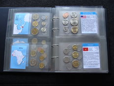 World - various coin sets  (30 different) in album.