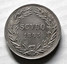 Papal States – Scudo, 1845, Rome, Gregory XVI – silver