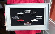 """Mercedes-Benz special media-kit: September 2005: """"Ahead of The new S-class"""" with 8 Wiking cars in 1/87"""