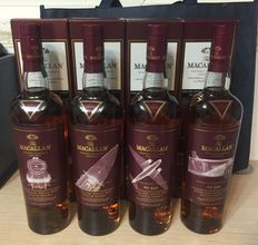 4 bottles -  The Macallan Classic Travel Range Limited Edition 1920's-1940's Full collection