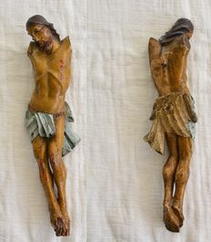 Great christ in polychrome wood from the 19 ° century