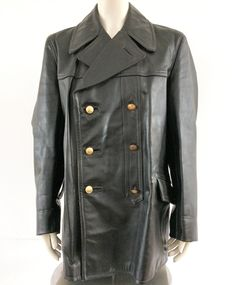 Beautiful leather fireman's jacket from the 20th century.