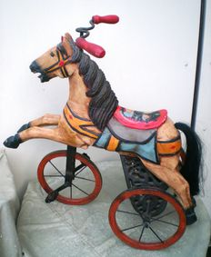 Tricycle horse - Metal  with wood