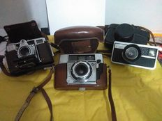 A lot consisting of 3 cameras, for collectors, 1950s