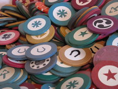 Large lot of casino chips/roulette chips - 20th century