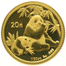 China Peoples Republic - 20 Yuan, 1/20 oz.  2007  goud
