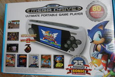 Sega 25th Anniversary Sonic Ultimate Mega Drive Portable Game Player - 80 built-in games - complete in box