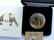 Fiji - 1 Dollar 2012 'Egypt - Horus' silver, partially gold plated