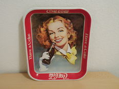 Coca Cola metal tray 70s