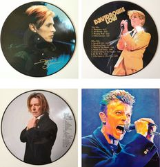"""David Bowie Lot Of Two Picture Disc LP's """"Fame In Paris"""" & """"Low""""  -  All In Absolute Mint Condition !!"""