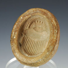 Egyptian terracotta scarab mould - 58,4 mm