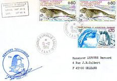 T.A.A.F 1984/1990 – Lot of 107 T.A.A.F envelopes,  having travelled.