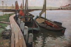 Ben Viegers (1886-1947) - Volendamse haven