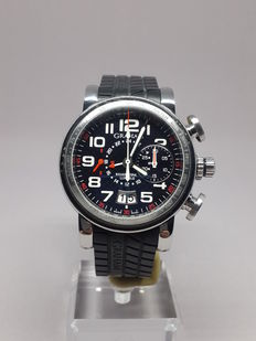 Graham Silverstone Luffield GMT Chronograph Carbon/Steel Limited to 500 Pieces - 2GSIUS - Mens Wristwatch