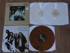 Led Zeppelin- lot of 2 limited edition lp's: In Through The Out Door The Complete Outtakes And Rehearsals (special collector's edition of 111 copies, 2x white marbled wax)/ In Through The Outtakes (special collector's edition of 60 copies, brown wax)