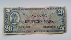 Germany - 20 Deutsche mark 1948 - Pick 9a