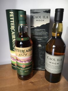 2 bottles - Caol Ila Moch (43% - 700ml) & 1x Fettercairn 12-year-old (40% - 700ml)