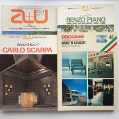 Architecture and Urbanism; 4 issues Top Italian architects - 1984 / 1989