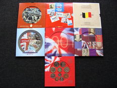 Great Britain and Belgium - Various year packs 1990/2003 (7 different ones)