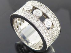 Diamond ring with floating diamonds 1.20 ct
