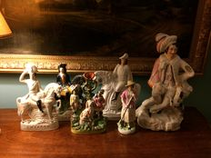 6 Staffordshire figurines - England - approx.1870