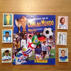 Panini-Copa del Mundo World Cup Story - Complete set of loose stickers + empty album (new).