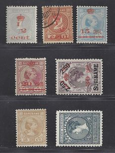 Surinam 1892/1911 - Selection - NVPH 23, 57 and 60/64