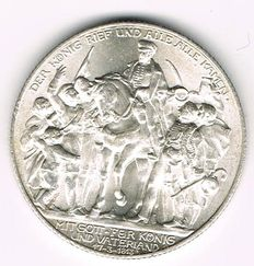 German Empire, Prussia - 2 Mark 1913 A 100 Years Defeat of Napoleon - silver