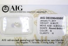 Diamond - 0.30 ct - without reserve price