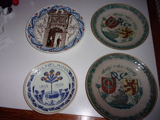Distel and Porceleyne Fles - lot with 4 commemorative plates