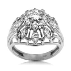 Ladies' Diamond Entourage Platinum Ring, As New!