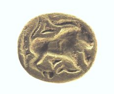 Stamp seal ibex, 1100-900 B C, stone - length = 24.2mm