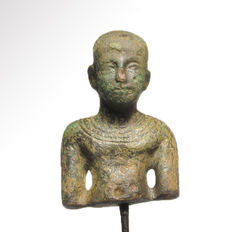 Egyptian Bronze Figure of Imhotep, 5 cm H