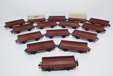 Trix Express H0 - 15 Open freight carriages without company-indication, two, including load