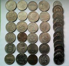 DDR –  2, 5, 10, 20 Mark 1957-1990  (36 coins)