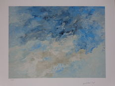 Armando - Abstraction in blue and white