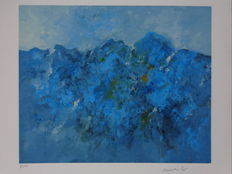 Armando - Abstraction in blue and light blue