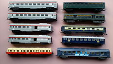 Jouef H0 - 10 x various passenger carriages