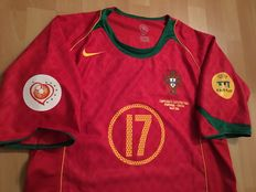 Euro 2004 Final Shirt Portugal vs. Greece - C. Ronaldo 17.