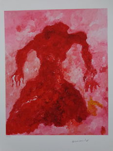 Armando - Abstraction with red figure