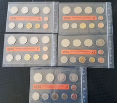 Federal Republic of Germany - course coin set 1996 A, D, F, G and J