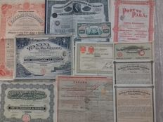 Old Shares - South America - Lot with 11 different securities, including Panama Canal - Nicaragua - Mexico - Brazil