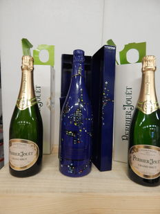 1983 Taittinger Collection Vieira da Silva, Champagne x 1 & Perrier-Jouet Brut, Champagne x 2