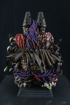 Traditional African fertility twins doll - NAMJI - Cameroon