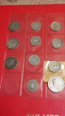 Lot of 11 Coins (8 Silver) – Italy and Switzerland