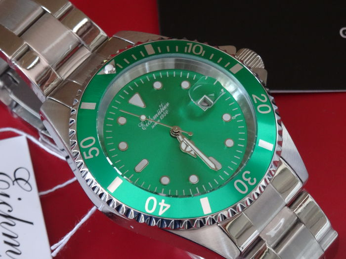EICHMULLER QUALITY GREEN  DIVE WATCH SUBMARINER GENT'S WATCH