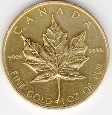 Canada - 50 dollars 1986 Maple leaf - 1 oz Goud